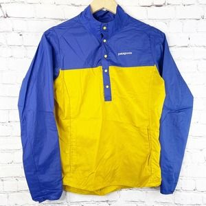 PATAGONIA Blue Yellow Houdini Lightweight Pullover